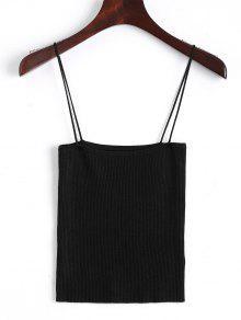 Camisole à Bas Prix Cami à Tricoter - Noir S