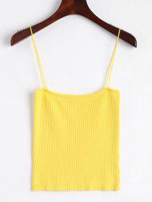 Camisole à Bas Prix Cami à Tricoter - Jaune M