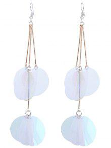 Gradient Color Design Hook Earrings - Transparent