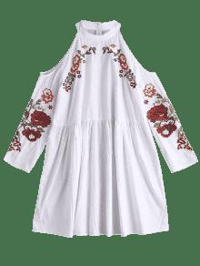 237;o Blanco Bordado Floral De Hombro Blusa S Fr xHvYaXv
