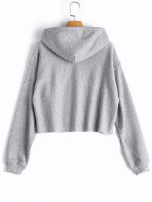 Cropped Drop Shoulder Pullover Hoodie; Cropped Drop Shoulder Pullover Hoodie  ...