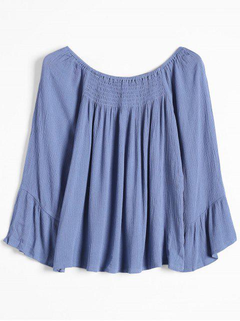 Top de hombros sueltos - Azul L Mobile