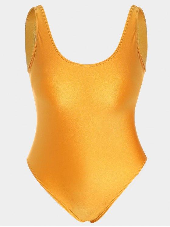 Costume da bagno brivido di un pezzo più grande - colore d'agrume 3XL