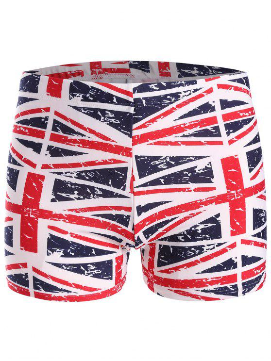chic Distressed Flag Swim Trunks - COLORMIX ONE SIZE