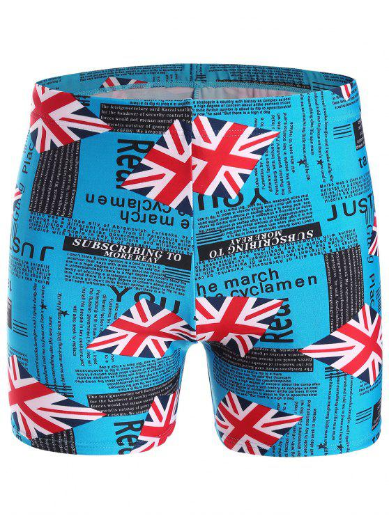 fancy Graphic Swim Trunks - LAKE BLUE ONE SIZE