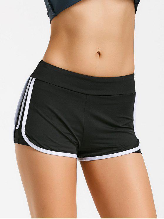trendy Stripe Trim Sports Shorts - WHITE M