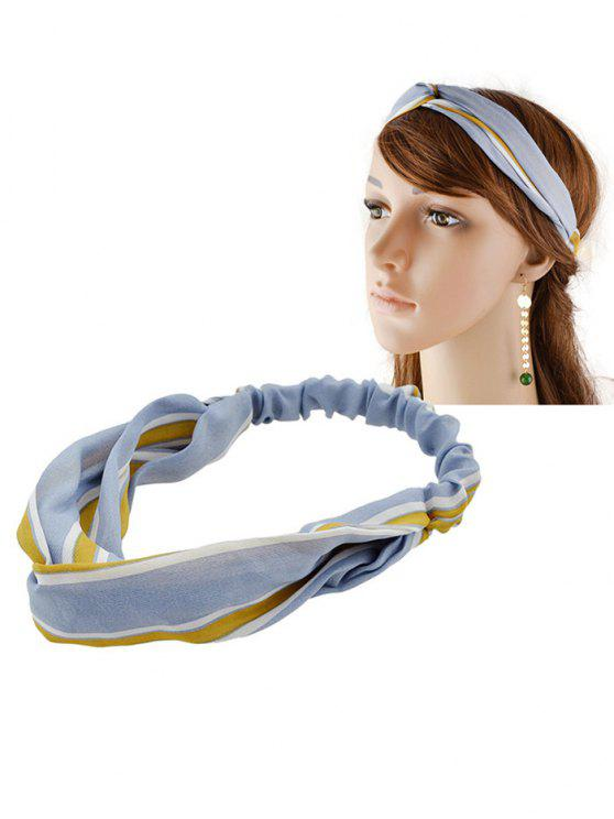 sale Striped Elastic Hair Band - BLUE