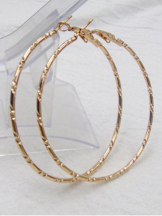 Bambus Ohrringe mit Kreis - Golden