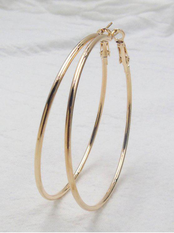 Brincos de aro grande - Dourado