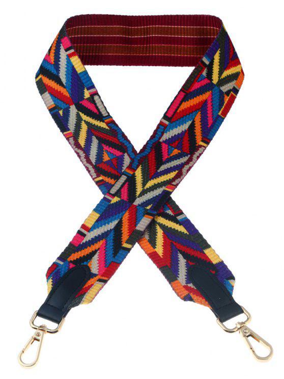 Bandoulière Tribal Geometric Bag - Multicolore
