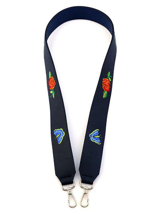 Bracelet à épingles fleur à papillon - Noir