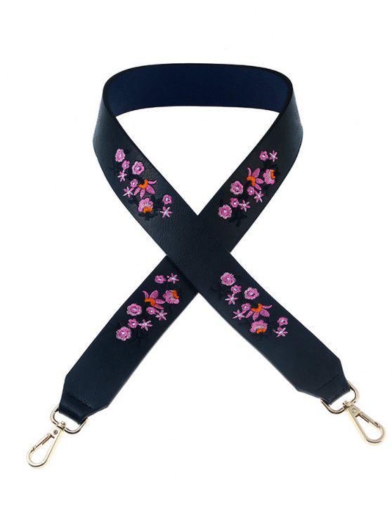 sale Tiny Floral Embroidery Bag Strap - PURPLISH BLUE