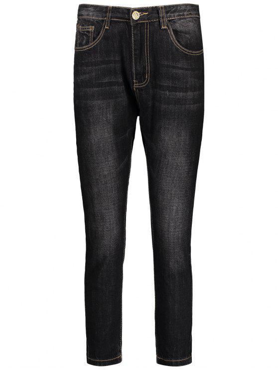 best Mens Dark Wash Jeans - BLACK 33