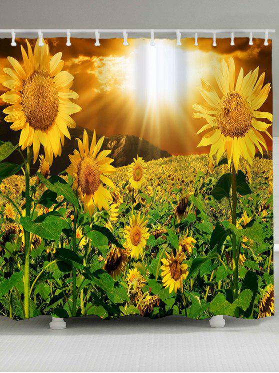 ماء الشمس عباد الشمس نمط دش الستار - الأصفر W79 بوصة * L71 بوصة