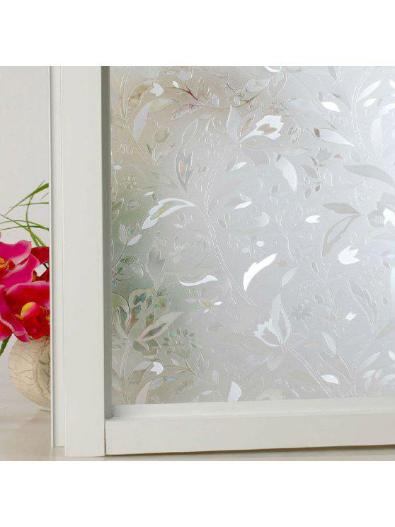 زهرة كهرباء نافذة زجاج الجدار ملصق - ابيض صافي