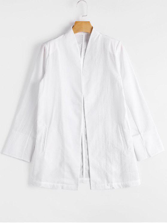 Casual Blazer mit Öffnung vorne - Weiß XL