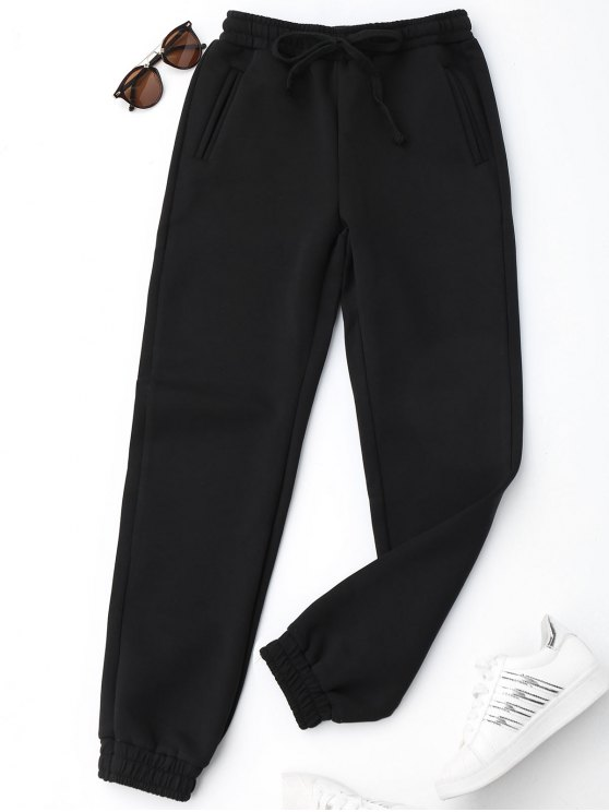 unique Running Drawstring Jogger Pants - BLACK M