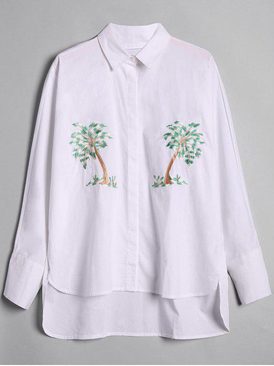 Camicia bassa ricamata ad albero allentato - Bianca M