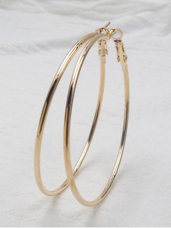 fancy Big Hoop Earrings - GOLDEN