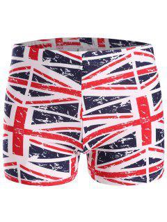 Distressed Flag Swim Trunks