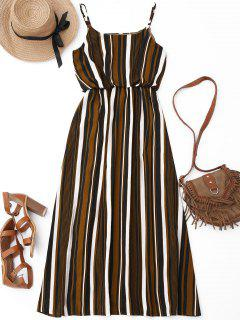 Casual Striped Lined Maxi Dress - Stripe L