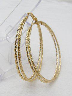 Hemp Flower Big Hoop Earrings - Golden