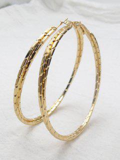 Metal Alloy Circle Hipa Hoop Earrings - Golden