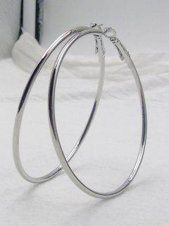 Big Hoop Earrings - Silver