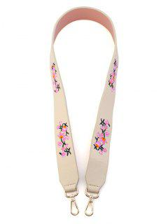 Tiny Floral Embroidery Bag Strap - Off-white