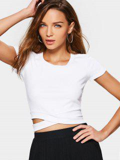 Cross Crop Top - White S
