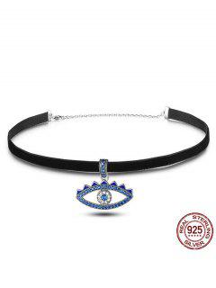 Choker Charm Devil Eye - Noir