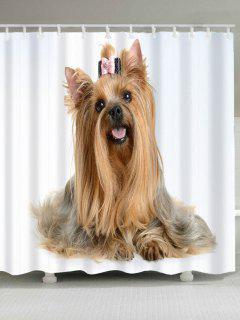 Cute Dog Pattern Showerproof Bathroom Curtain - Light Brown W71 Inch * L79 Inch