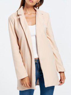 Slim Fit Long Lapel Blazer - Apricot S