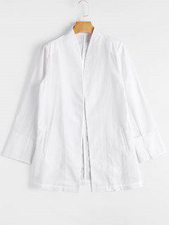 Casual Open Front Blazer - White Xl