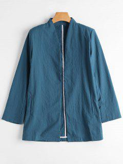 Casual Open Front Blazer - Blue S