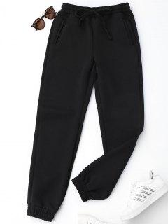 Pantalones Con Cordón Para Correr - Negro L