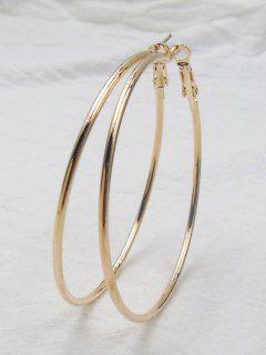 Big Hoop Earrings - Golden