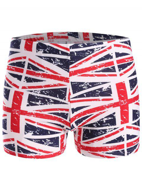 chic Distressed Flag Swim Trunks - COLORMIX ONE SIZE Mobile