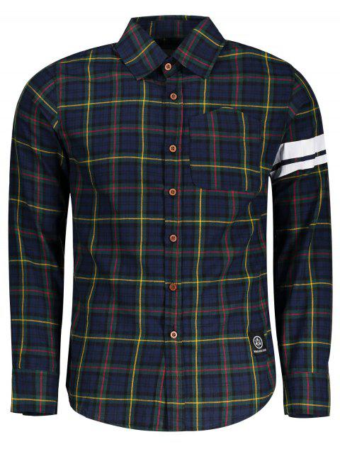 unique Mens Button Up Checked Shirt - CHECKED ONE SIZE Mobile