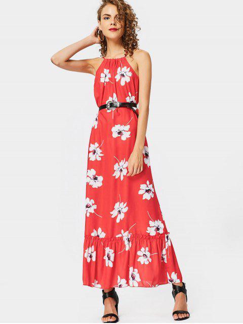 Robe Longue Imprimée Florale à Bretelles - Floral XL Mobile