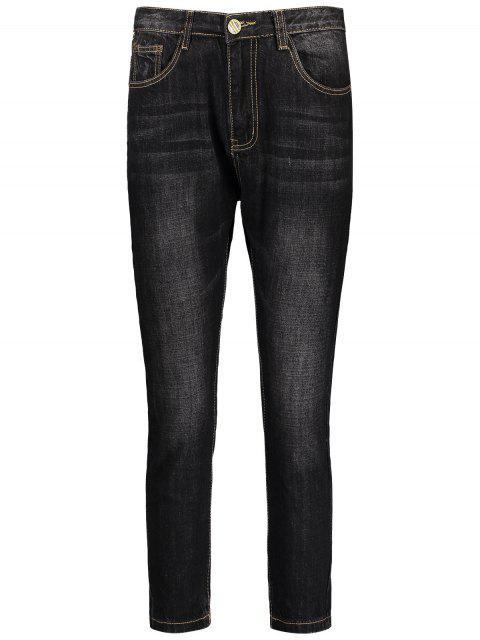 Jeans Homme Délavé Foncé - Noir 34 Mobile