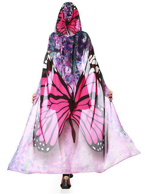 Cape aus Chiffon mit Kapuze und Schmetterlings-Entwurfs für Fest - Tutti Frutti  Mobile