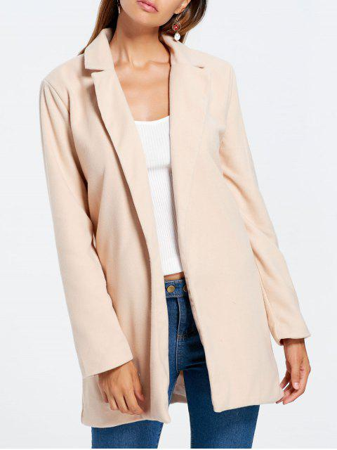 womens Slim Fit Long Lapel Blazer - APRICOT S Mobile