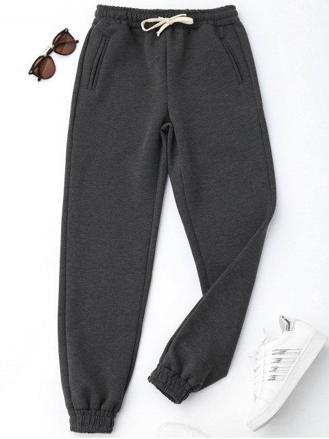 chic Running Drawstring Jogger Pants - DEEP GRAY S Mobile