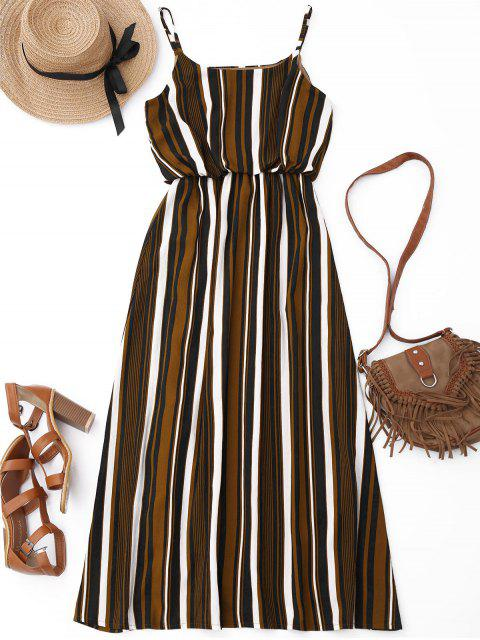 fashion Casual Striped Lined Maxi Dress - STRIPE S Mobile