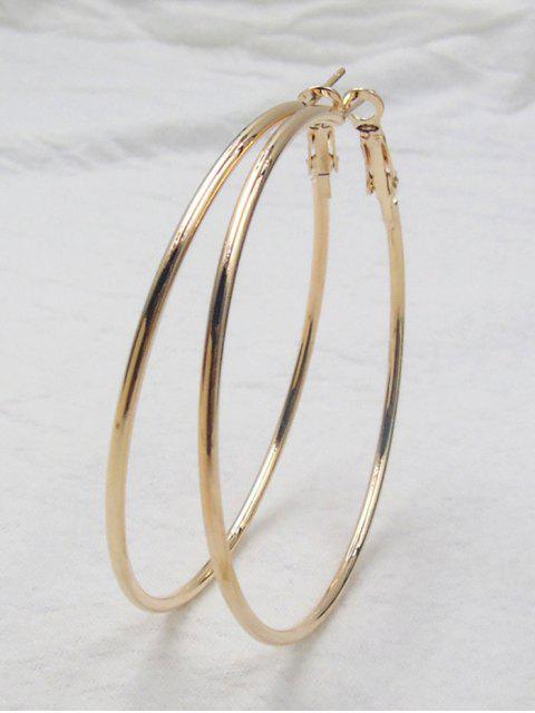 fancy Big Hoop Earrings - GOLDEN  Mobile