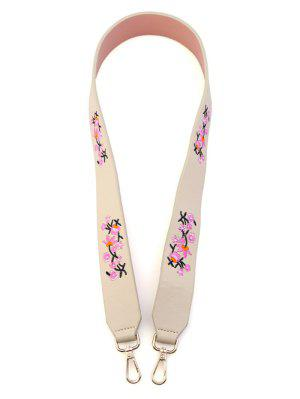 Tiny Floral Embroidery Bag Strap - Off-white - Off-white