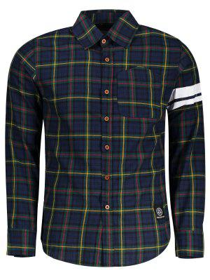 Mens Button Up Checked Shirt - Checked