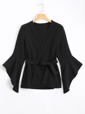 Belted Asymmetrical Flare Sleeve Balzer