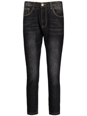 Mens Dark Wash Jeans - Black 33